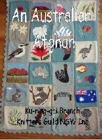 An Australian Afghan knitting book