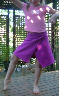wrap skirt on a tall 7 year old