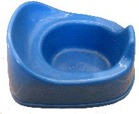 small blue potty