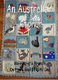 An Australian Afghan knitting book
