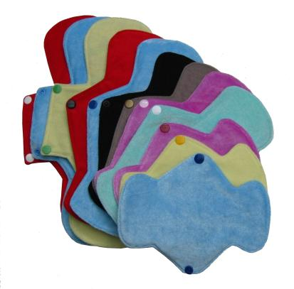 reuseable cloth pads for menstruation and mild incontinence