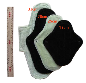 pad lengths - 19cm to 33cm